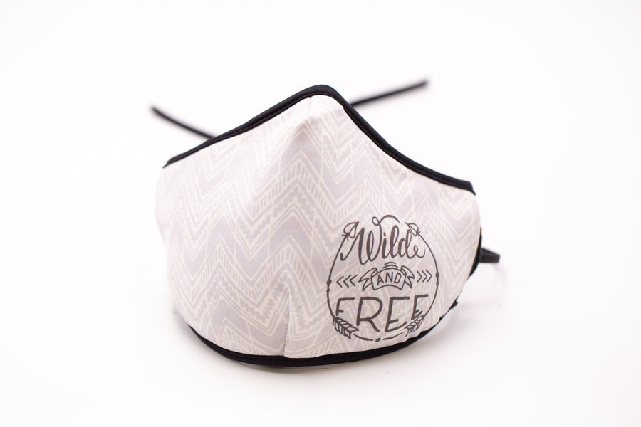 Wild and Free- Arena Tour Mask (Includes 1 PM2.5 Carbon Filter) Reversible Face Mask