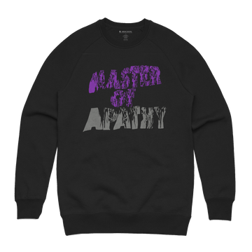 Dereck Seltzer - Master of Apathy Unisex Heavyweight Pullover Sweatshirt - Band Merch and On-Demand Designer Shirts