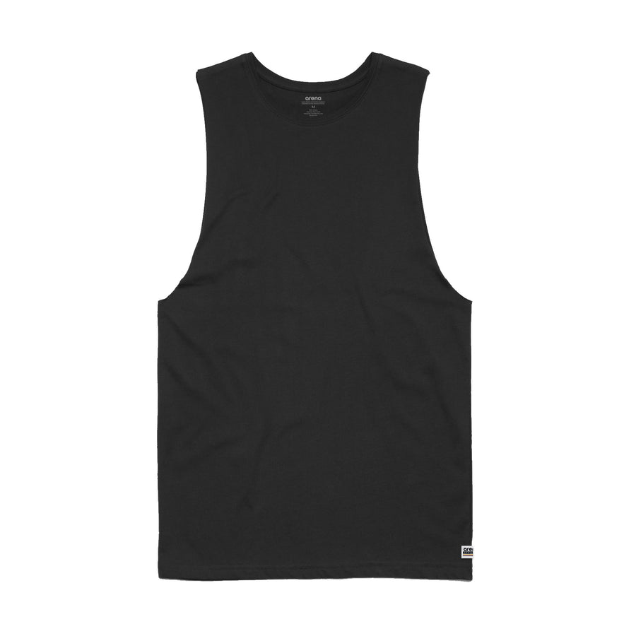 Men's Black Sleeveless Tee