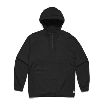 Men's Black Windbreaker Jacket