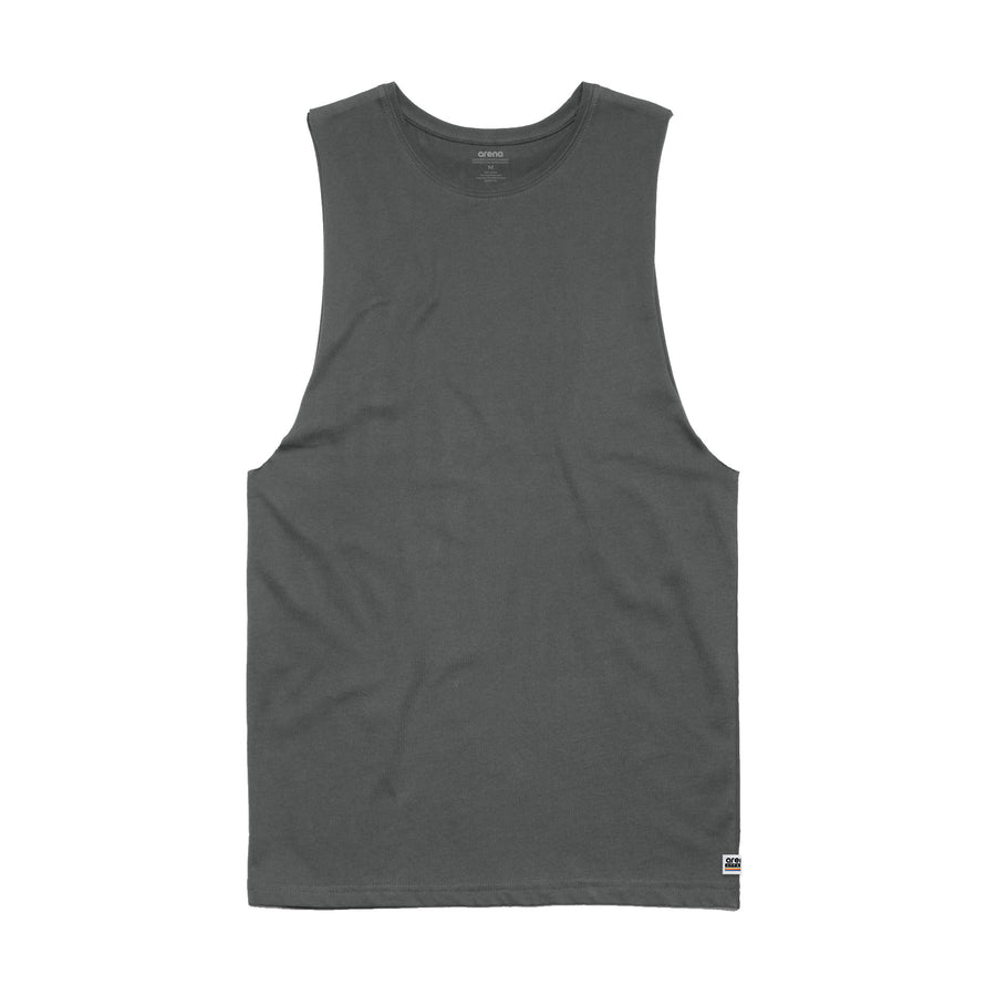 Men's Charcoal Sleeveless Tee