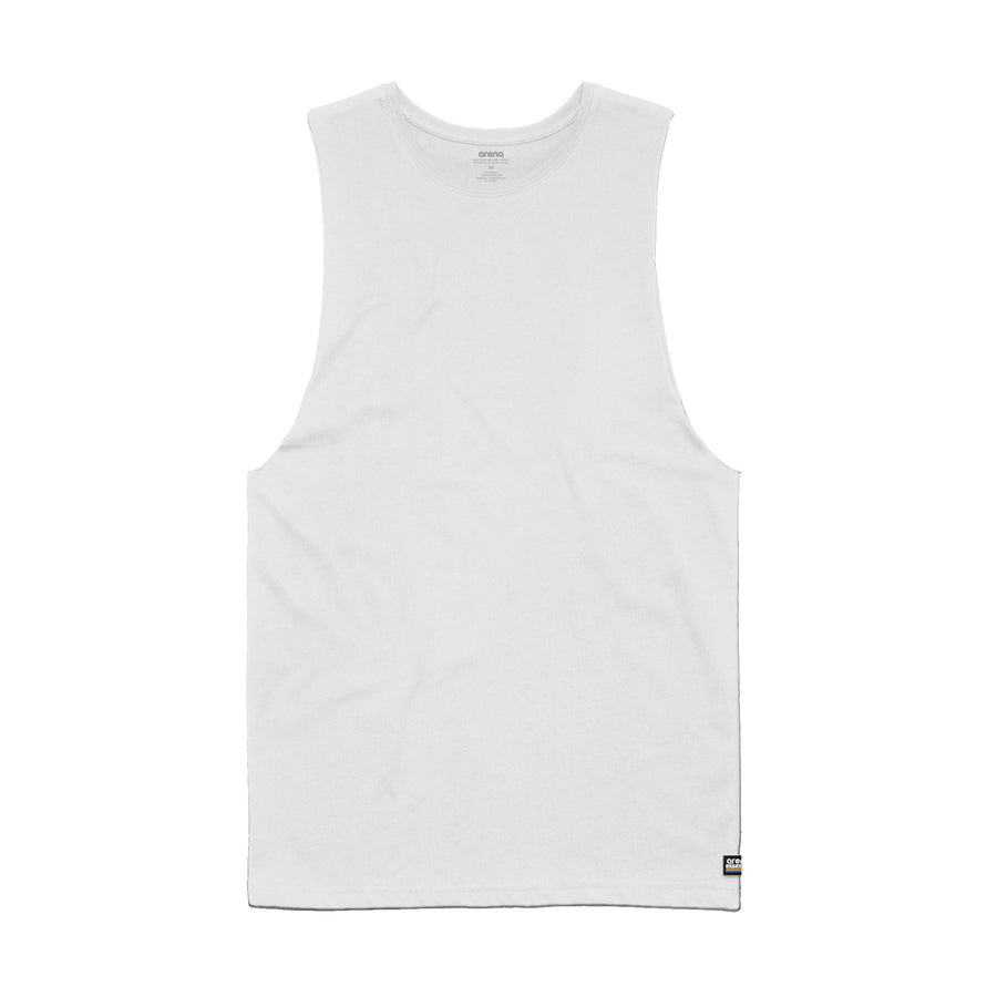 Men's White Sleeveless Tee