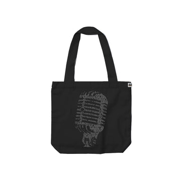 Vintage Microphone - Tote Bag - Band Merch and On-Demand Designer Shirts