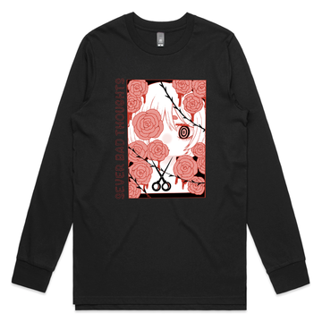 Generation Monster - Sever Bad Thoughts:  Men's Black Longsleeve Tee | Arena