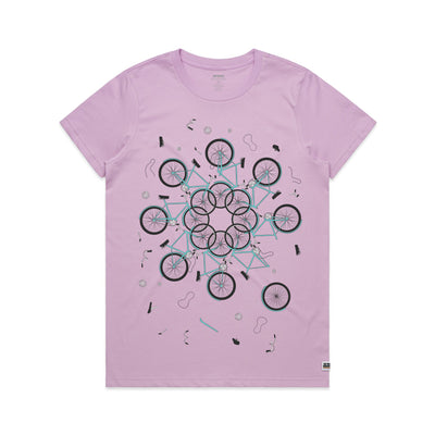 Neon Indian Suns Irrupt Lavender Women's Tee Shirt