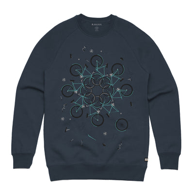 Neon Indian Suns Irrupt Navy Unisex Pullover Sweatshirt