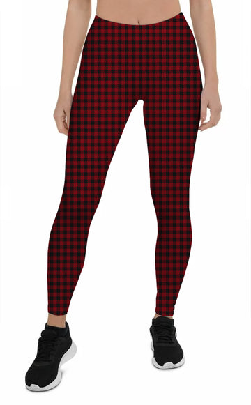 Women's Red Flannel - All Over Print Leggings | Arena