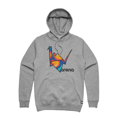 Paper Crane Pullover Hoodie Heather Grey