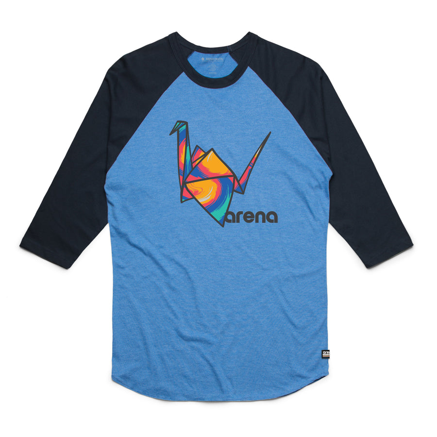Paper Crane Raglan Blue and Navy