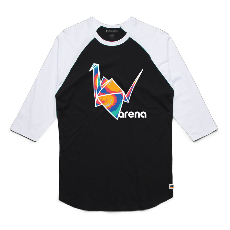 Paper Crane Raglan Black and White
