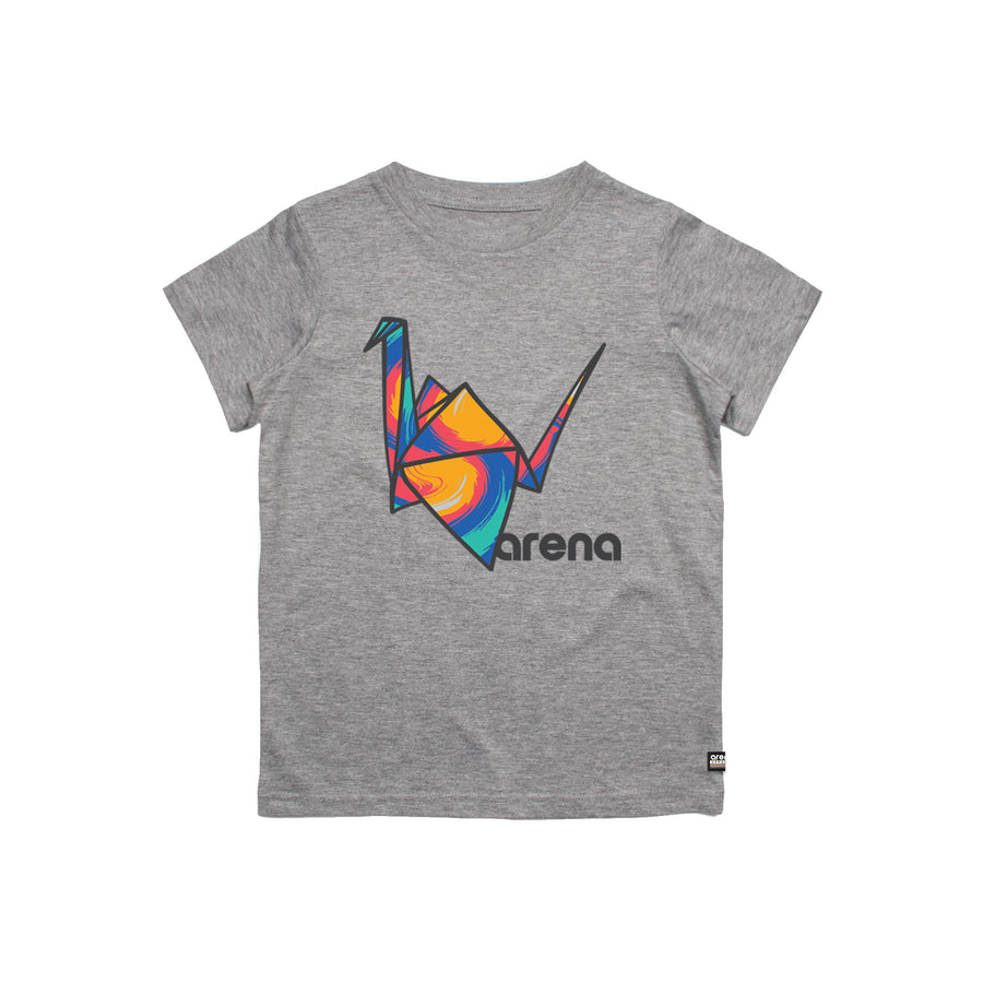 Paper Crane Youth Tee Heather Grey