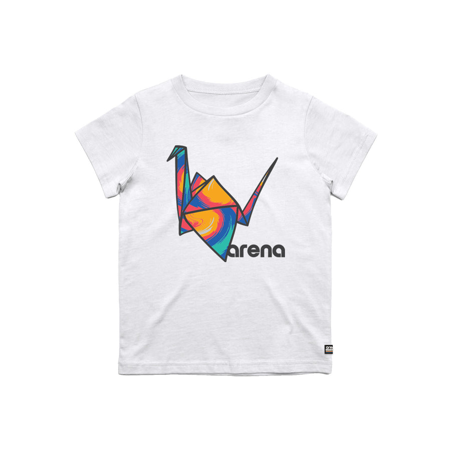 Paper Crane Youth Tee White