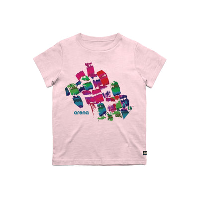 Arena Brush Strokes Pink Kid's Tee