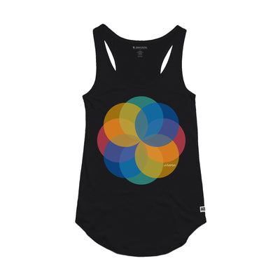 Pinwheel Black Women's Tank