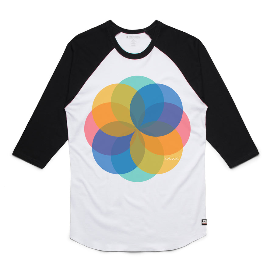 Pinwheel - Unisex Raglan Tee Shirt - Band Merch and On-Demand Designer Shirts