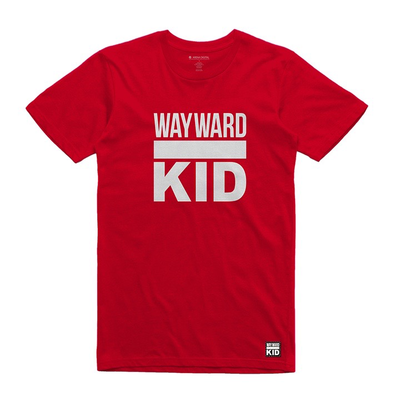 Red Wayward Kid Unisex Tee Shirt