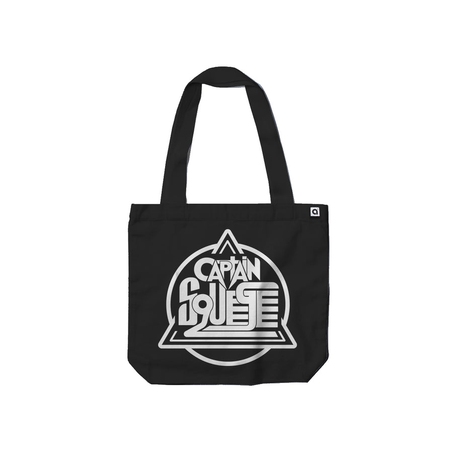 Captain Squeegee Black Carrie Tote Bag - Music Merchandise and Designer Shirts