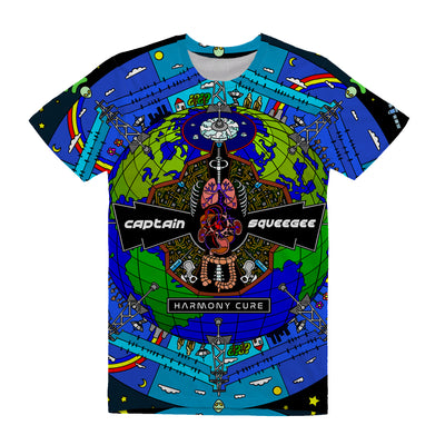 Captain Squeegee - Harmony Cure All-Over Tee Shirt - Music Merchandise and Designer Shirts