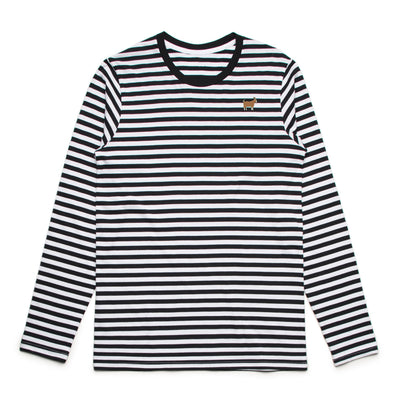 Black and White Striped GOAT Longsleeve Shirt