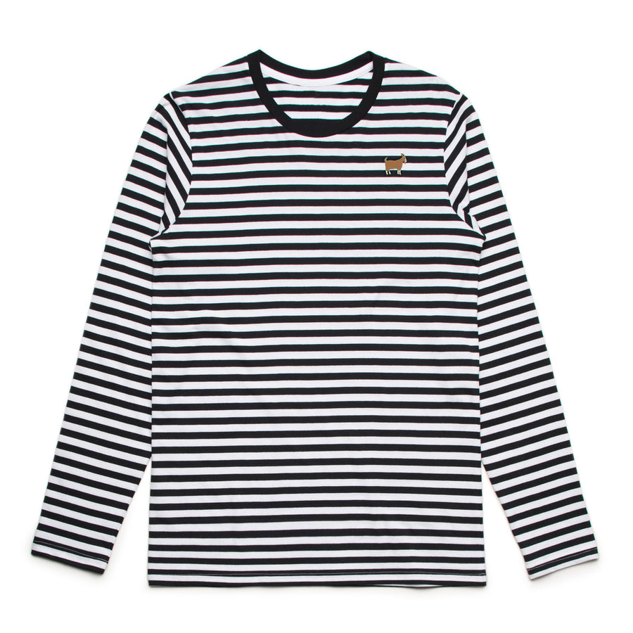 G.O.A.T. - Men's Striped Long Sleeve Tee Shirt - Band Merch and On-Demand Designer Shirts