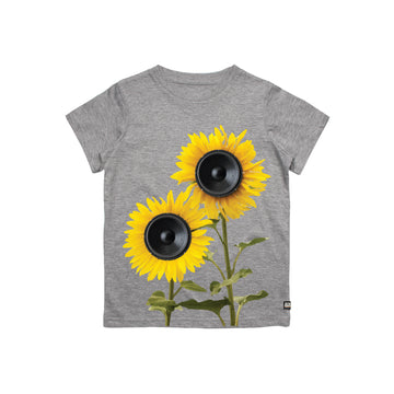 Sun Flower Sub Woofers Youth Tee Shirt Heather Grey