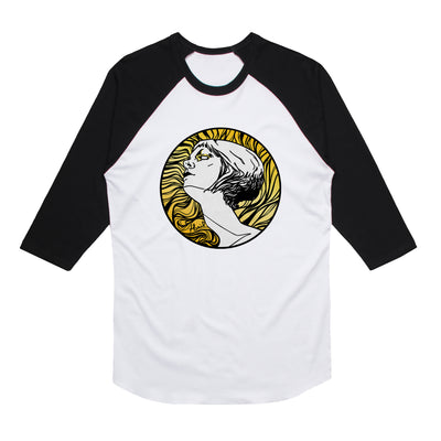 Tina St. Claire - Icarus Gold Unisex Raglan Tee Shirt