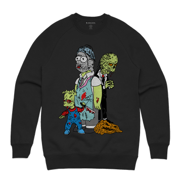 Dereck Seltzer - Treehouse of Horror Unisex Heavyweight Pullover Sweatshirt - Band Merch and On-Demand Designer Shirts