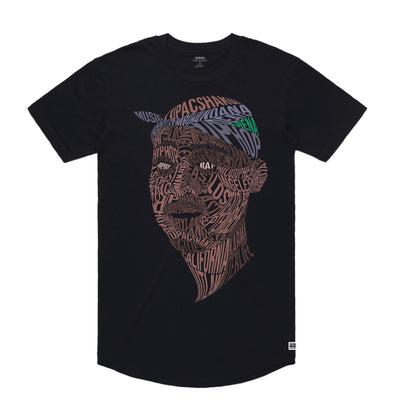 Tupac - Men's Curved Hem Tee Shirt