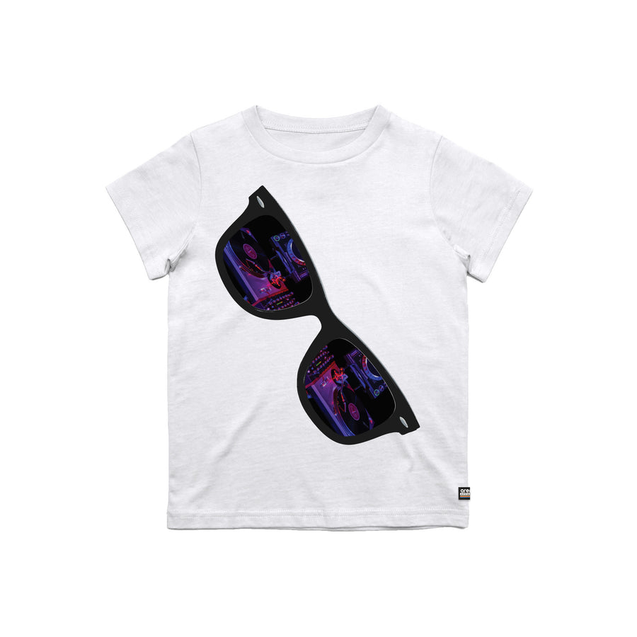 Turntables Reflection White Youth Tee Shirt