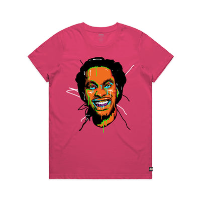 Waka Flocka Flame Face Fuchsia Women's Tee Shirt