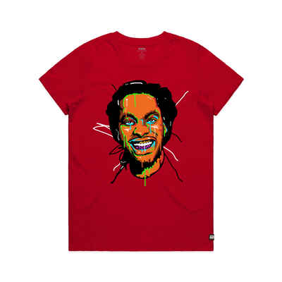 Waka Flocka Flame Face Red Women's Tee Shirt