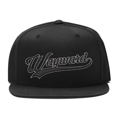Black Wayward Kid Script Embroidered Hat