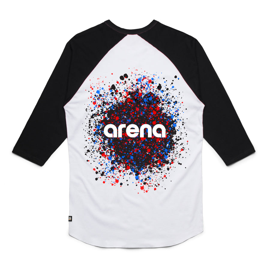 White/Black Dissolve Raglan Back