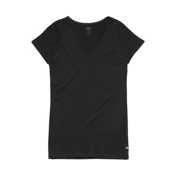 Wo's Bevel V Neck Tee Shirt | Custom Blanks - Band Merch and On-Demand Designer Shirts