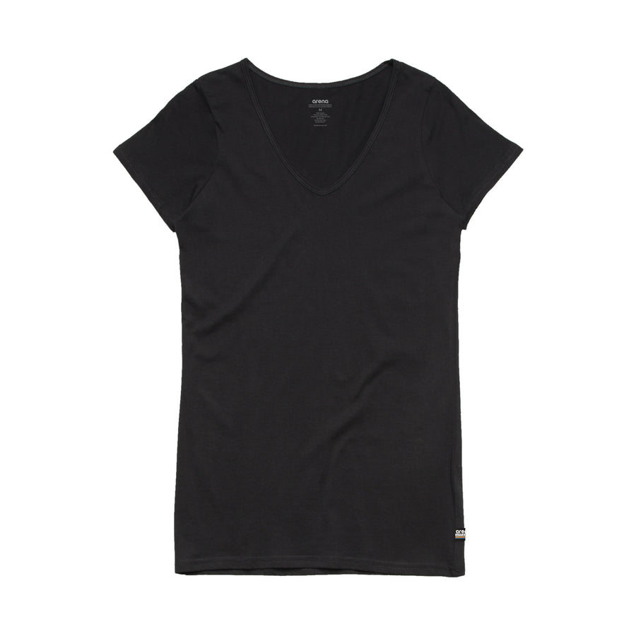 Women's Black V-Neck Tee Shirt