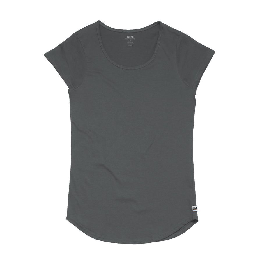 Women's Coal Curved Hem Tee Shirt