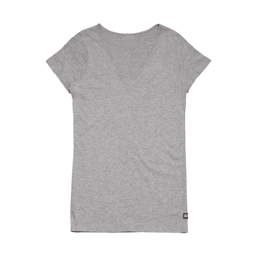 Women's Heather Grey V-Neck Tee Shirt