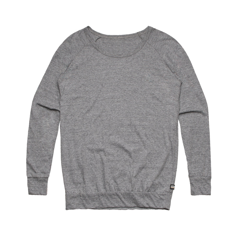 Women's Heather Grey Washed Out Sweatshirt