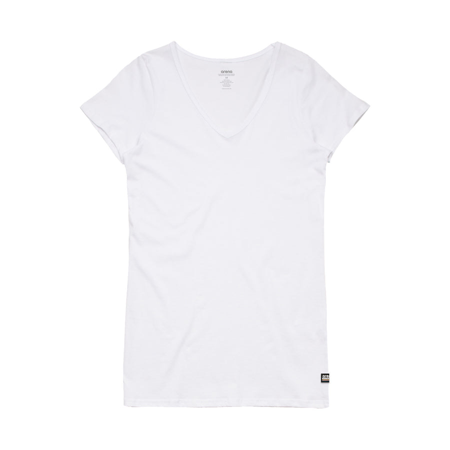 Women's White V-Neck Tee Shirt