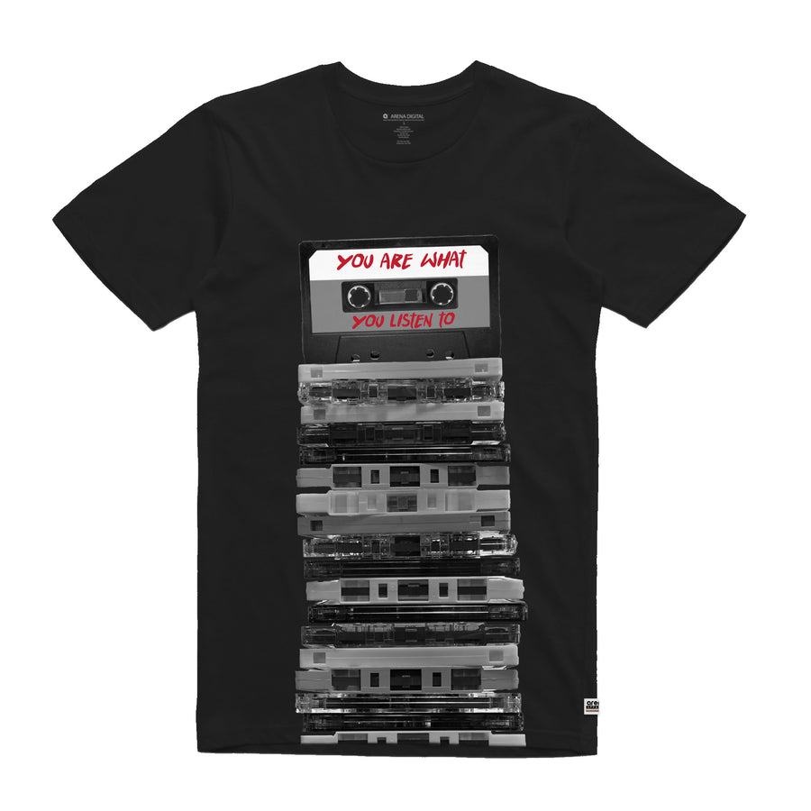 You Are What You Listen To Cassette Tapes Black Unisex Tee Shirt