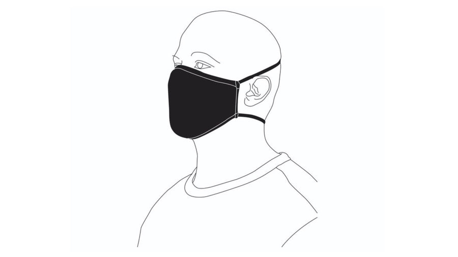 Arena Tour Face Cover - Black (Includes 1 PM 2.5 Carbon Filter)