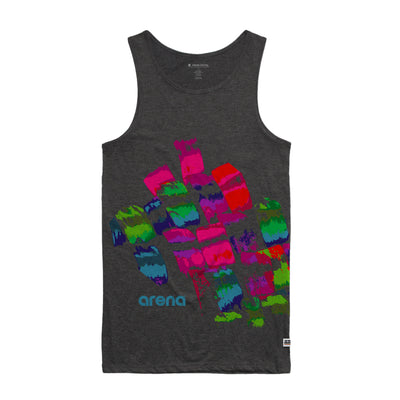 Arena Brush Strokes Asphalt Heather Men's Tank Top