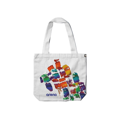 Brush Strokes Cream Carry Tote