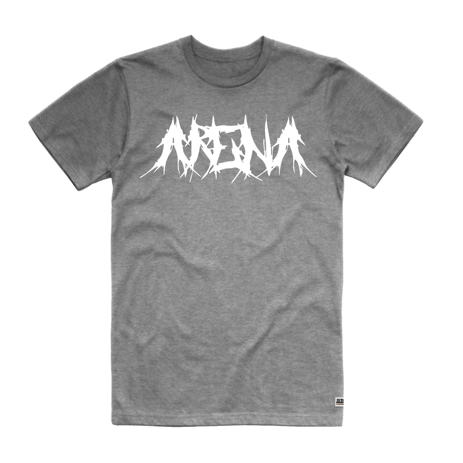 Arena Metal Heather Grey Unisex Tee Shirt