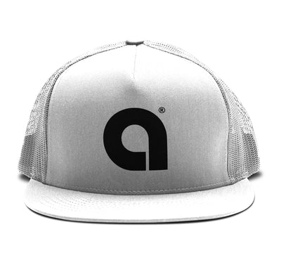 Arena A White Classic Snapback Hat