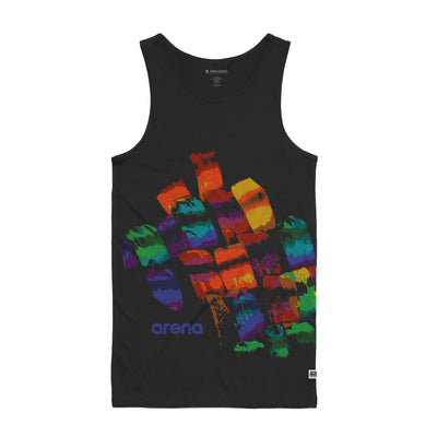 Arena Brush Strokes Black Men's Tank Top