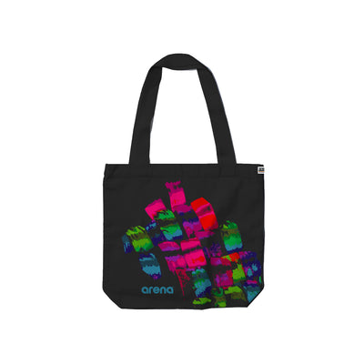 Brush Strokes Black Carry Tote