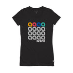 A Squared Black Women's Slim Fit Tee Shirt