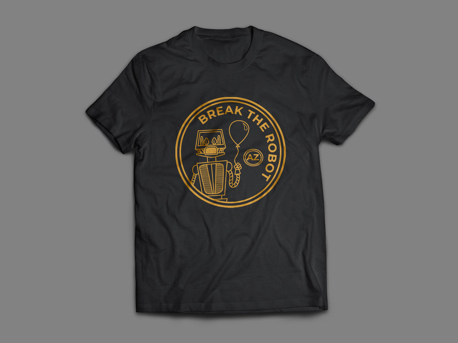 Break The Robot  - Drake: Gold Patch Unisex Tee Shirt | Arena - Band Merch and On-Demand Designer Shirts
