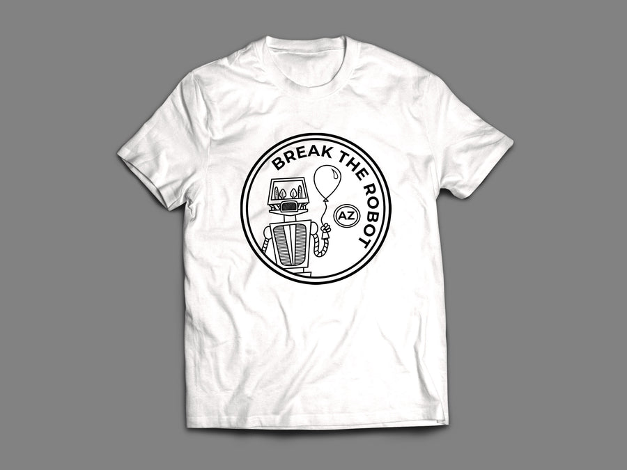 Break The Robot  - Black Patch Unisex Tee Shirt